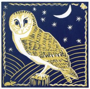 Barn Owl (Blue)